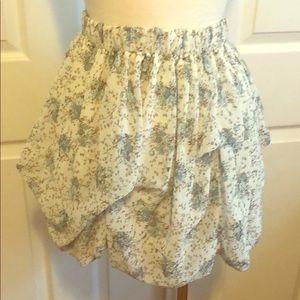 Forever 21 floral bustle skirt